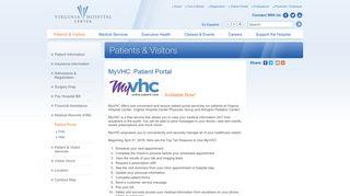 Virginia Hospital Center Patient Portal