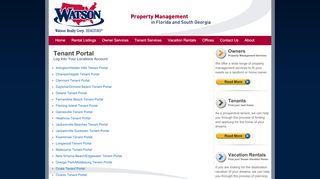 Watson Realty Tenant Portal