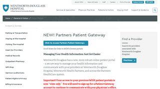 Wentworth Health Partners Portal