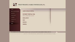 West Family Physicians Patient Portal
