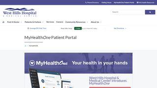 West Hills Hospital Patient Portal