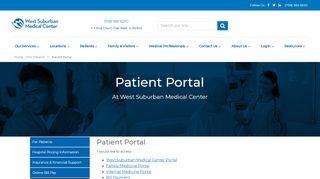 West Suburban Medical Center Patient Portal