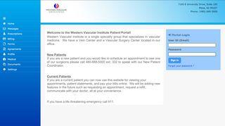 Western Vascular Institute Patient Portal