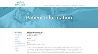 Westside Dermatology Patient Portal