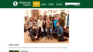 Wilderness Inquiry Staff Portal
