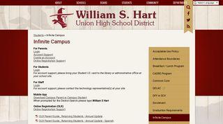 William S Hart Campus Portal