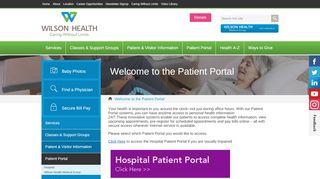 Wilson Health Patient Portal