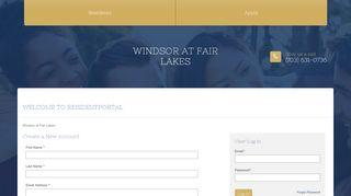 Windsor At Fair Lakes Resident Portal