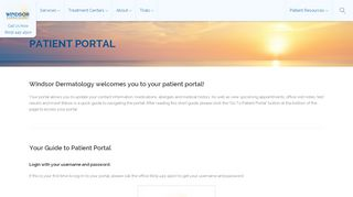 Windsor Dermatology Patient Portal