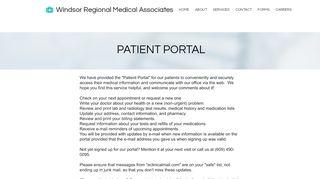 Windsor Regional Medical Patient Portal