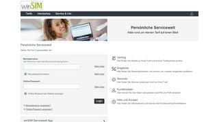 Winsim Service Portal