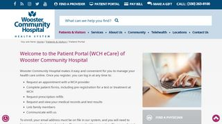 Wooster Community Hospital Patient Portal