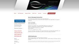 Wooster Eye Center Patient Portal