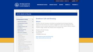 Worcester State Housing Portal