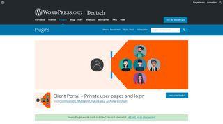 WordPress Login Portal