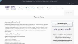 Wright Center Portal