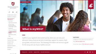 Wsu Application Portal