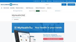 Www Raulersonhospital Com Patient Portal