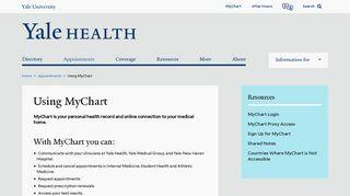 Yale Health Patient Portal