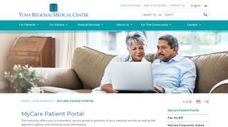 Yuma Regional Medical Center Patient Portal