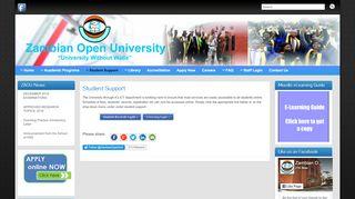 Zambian Open University Student Portal