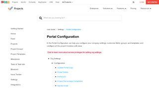 Zoho Project Portal