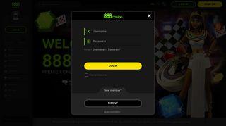 888 Casino Member Login