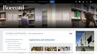 Admission Portal Bocconi
