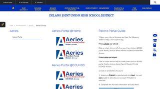 Aeries Portal Delano