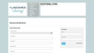 Alliance Resident Portal