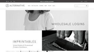 Alternative Apparel Wholesale Login