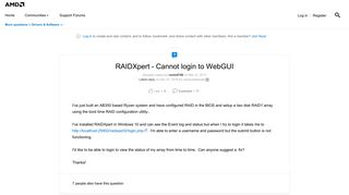 Amd Raidxpert2 Management Tool Login