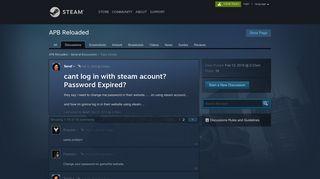 Apb Steam Login Password Expired