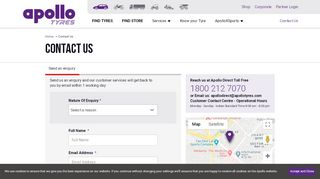 Apollo Tyres Dealer Portal
