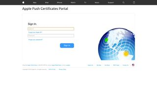 Apple Push Notification Service Portal