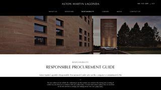 Aston Martin Supplier Portal