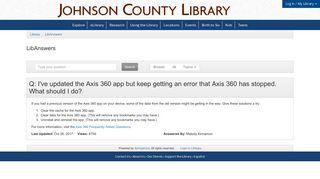 Axis 360 Login Access Denied