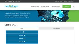 Baptist Care Staff Portal