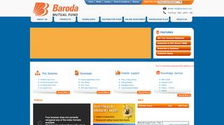 Baroda Pioneer Mutual Fund Login