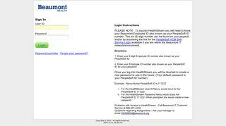 Beaumont Healthstream Login