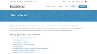 Bettermarks Mathe Portal