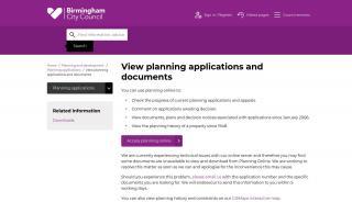 Birmingham Planning Portal