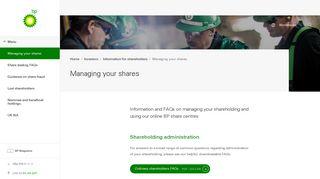 Bp Shareholder Login