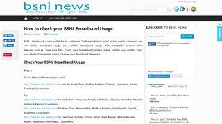 Bsnl Broadband Data Usage Portal