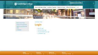 Cambridge Student Login