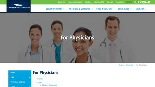Cape Fear Valley Physician Portal