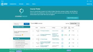 Careers Portal Course Search
