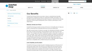 Centerpoint Energy Benefits Portal