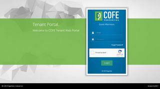 Cofe Properties Tenant Portal