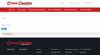 Cross Country Home Services Portal
